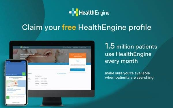 Claim your free HealthEngine profile