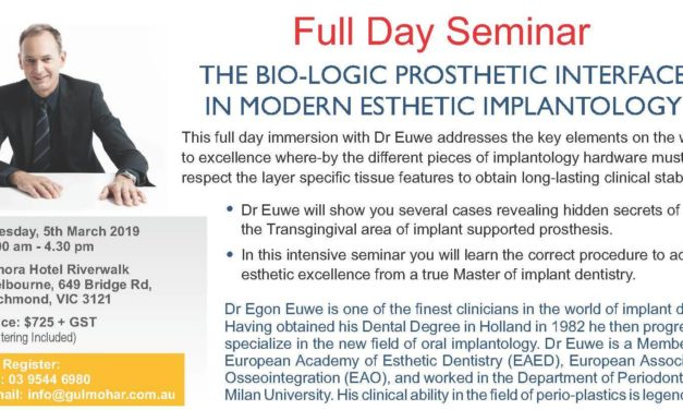 Seminar – The Bio-Logic Prosthetic Interface in Modern Esthetic Implantology