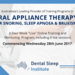 Oral Appliance Therapy for snoring, sleep apnoea and bruxism
