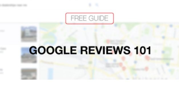 "Get the free guide ""Google Reviews 101"""