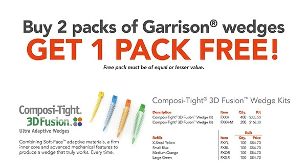 Buy 2 packs of Garrison® wedges and GET 1 PACK FREE!